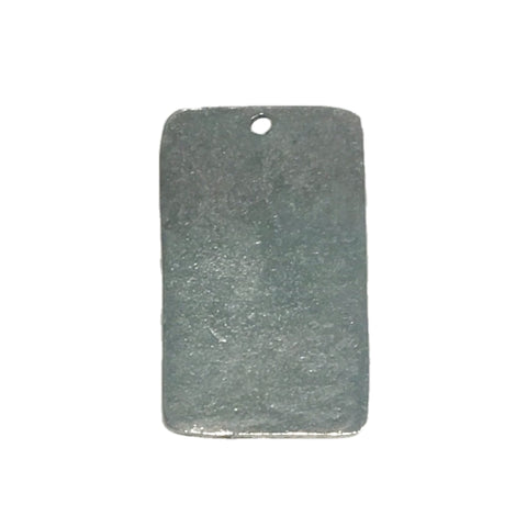 Extra Large Rectangle Tag Pendant Charms - Qty 1 - Lead Free Pewter Silver - American Made