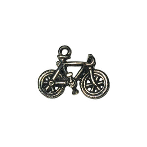 Bicycle Charms - Qty 5 - Lead Free Pewter Silver - American Made