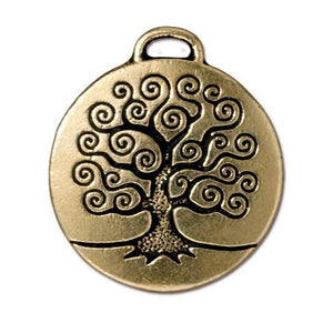 Tree of Life Pendant - Qty 2 Charms -TierraCast 22kt Gold Plated Lead Free Pewter