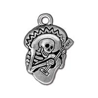 Guitaro Charms - Qty 5 Charms - TierraCast Silver Plated Lead Free Pewter