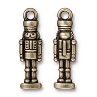 Nutcracker Nut Cracker Charm - Qty 5 Charms - TierraCast Brass Ox Plated Lead Free Pewter