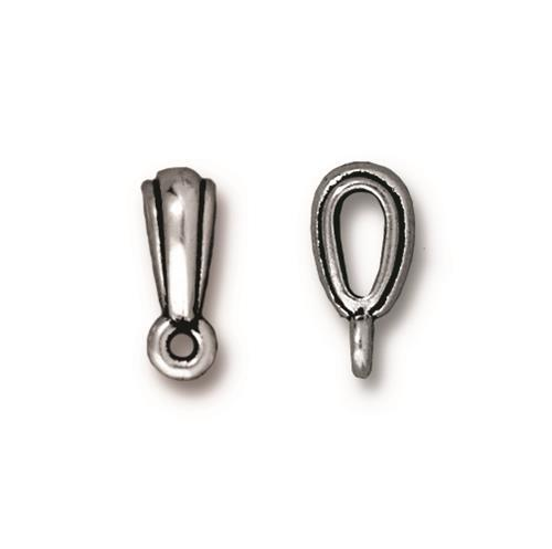 Nouveau Bail - Qty 5 Bails - TierraCast Silver Plated Lead Free Pewter