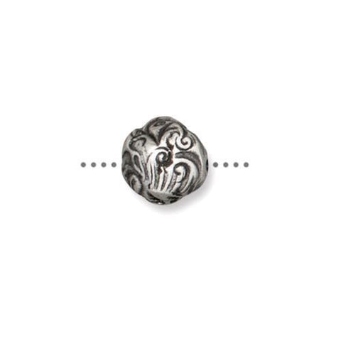Jardin 8mm Bead - Qty 5 - TierraCast Antiqued Plated Lead Free Pewter Silver