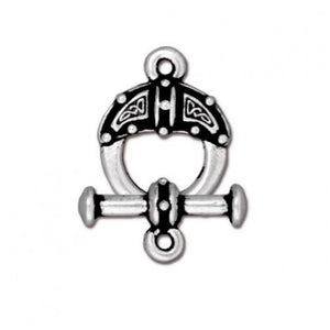 Celtic Knot Toggle Clasp - Qty 1 Clasp - TierraCast Silver Plated Lead Free Pewter