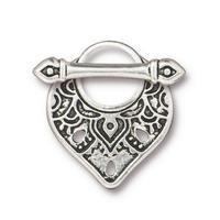 Temple Exotic Toggle Set - Qty 1 Clasp - TierraCast Silver Plated LEAD FREE Pewter - I ship Internationally - 6054-12