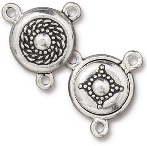 Opulence Magnetic Clasp 2-1 Connector - Qty 1 - TierraCast Antiqued Silver Plated Lead Free Pewter