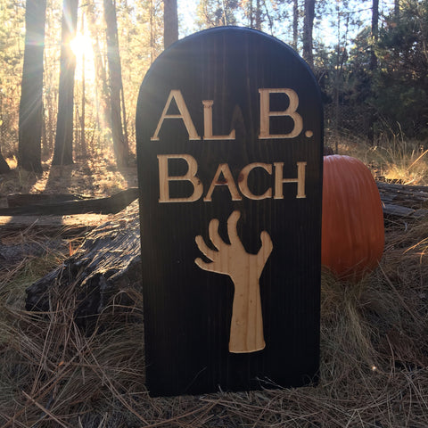 Al B. Back Yard Ornament Grave Head Stone Tomb Halloween Decoration