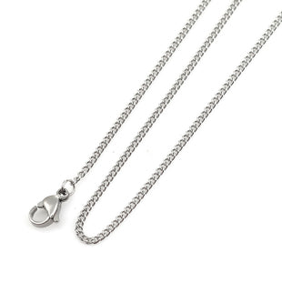 Stainless Steel Curb Style Chain 17 Inch Necklace