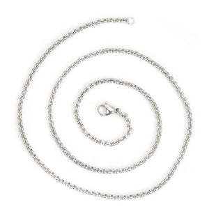 Stainless Steel Rolo Style Chain 19 Inch Necklace 2.6mm