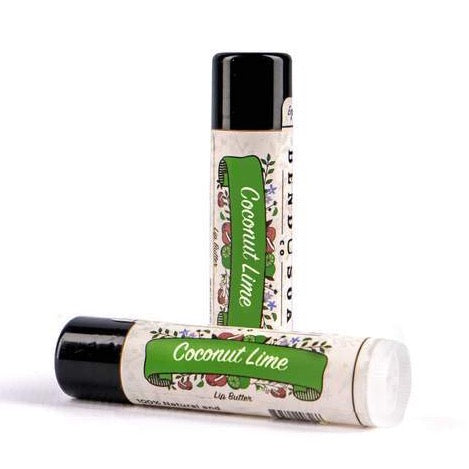 Coconut Lime Lip Butter Balm 0.1oz Tube - Bend Soap Company