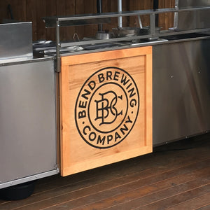 Custom Logo Business Sign - Engraved Pine
