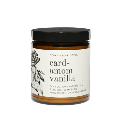 Cardamom Vanilla Soy Candle - Large 9oz - Broken Top Candle Company