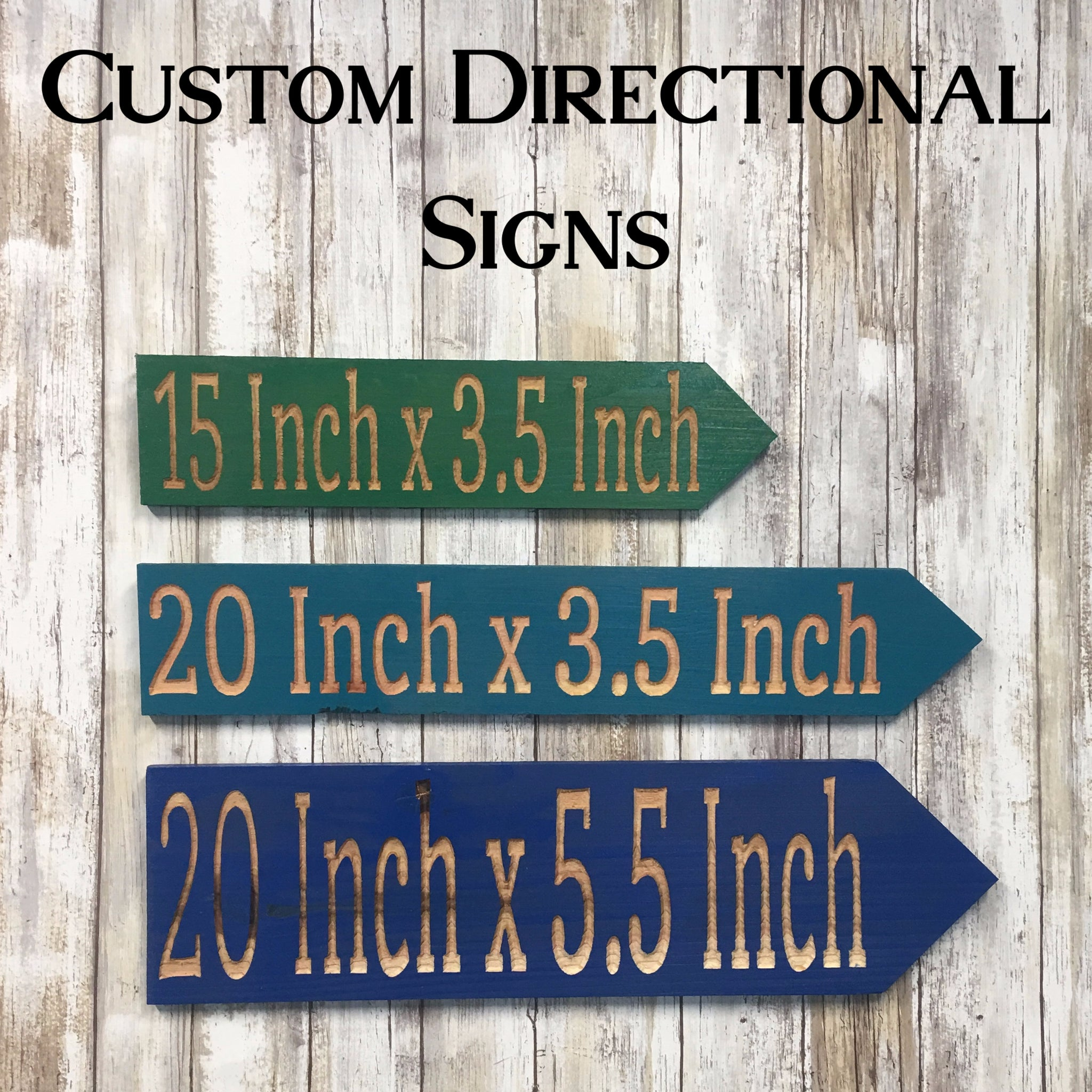 Design Your Own Directional Sign or Set - Customize Personalize