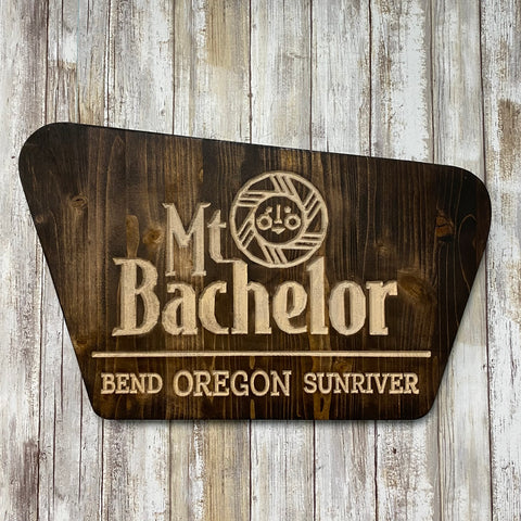 Mt. Bachelor National Forest Replica Sign - Carved Cedar Wall Hanging Sign