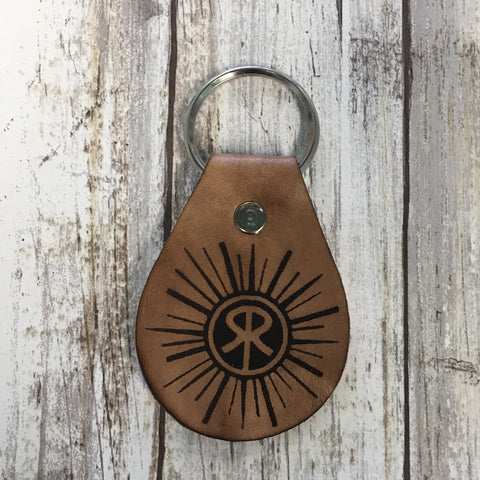 Sunriver Logo Leather Key Chain Fob