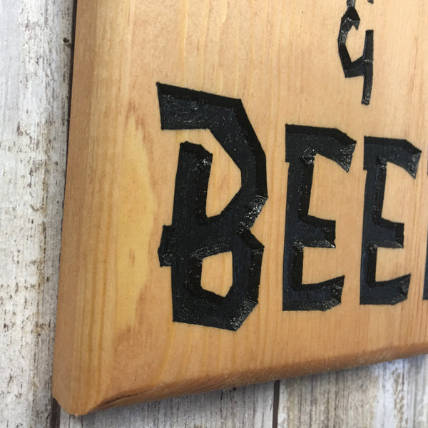 Custom Dog Breed Beer Bottle Opener - Wall Mounted Pine Wood
