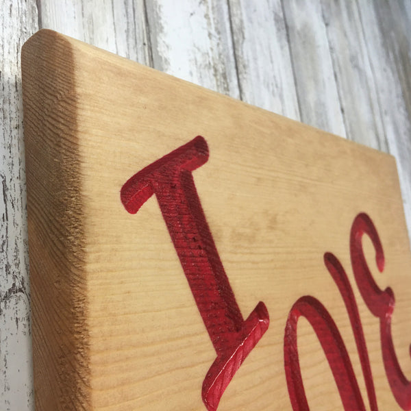 I Love Us Sign Plaque - Home Decor - Engraved MDF Wood