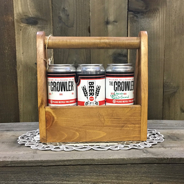 Bend Oregon Crowler Can Carrier - As Shown Holds Three 32oz Crowler Cans - Other Sizes Available
