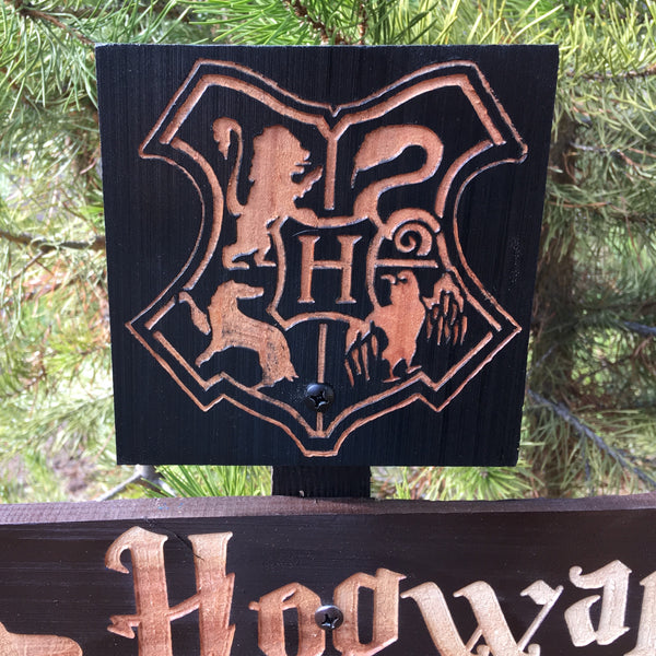 House Location Directional Sign Set - Carved Cedar Wood