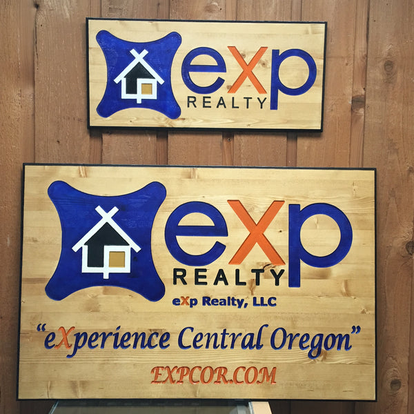 Business Logo Signs - Carved & Painted Pine Wood