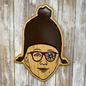 Ralphie Face from Christmas Story - Wall Hanging Sign - Engraved Pine Wood