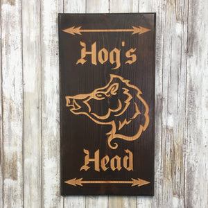 Pub Sign #4 - Engraved Pine Wood