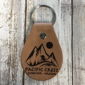 Pacific Crest Endurance Sports Festival Leather Key Chain Fob