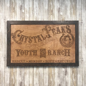 Custom Logo Business Sign - Laser Engraved Birch