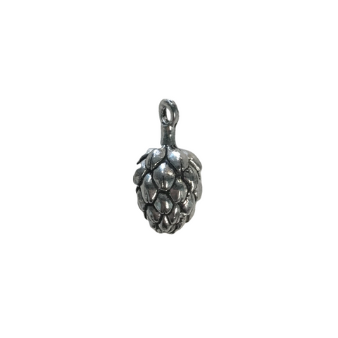 Hop Flower Charms - Qty of 5 Charms - Lead Free Pewter Silver - American Made