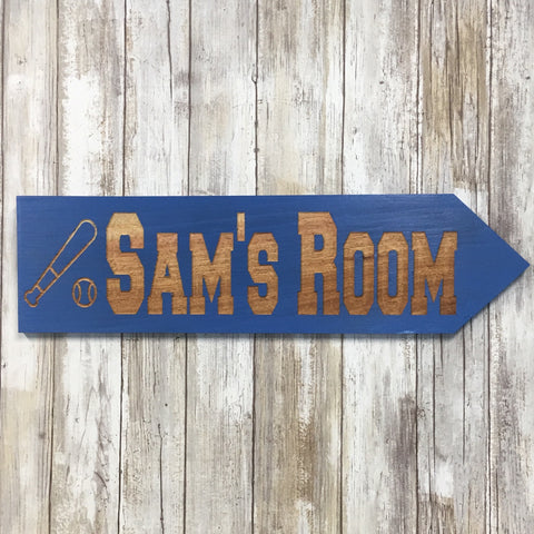 Boys Bedroom Sign - Customize Personalize