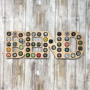 Bend Oregon Craft Brew Bottle Cap Display