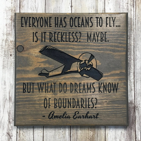 What Do Dreams Know of Boundaries Inspirational Sign - Carved Pine Wood