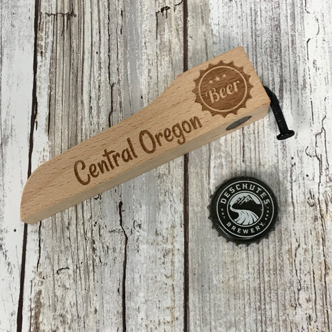 Central Oregon Beer Wood Handle with Nail Bottle Opener - Ale Trail