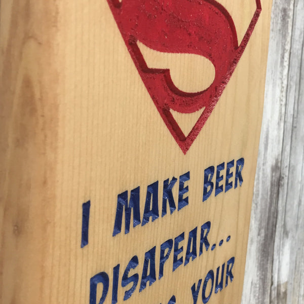 Super Power Beer Bottle Cap Opener - Wall Mounted