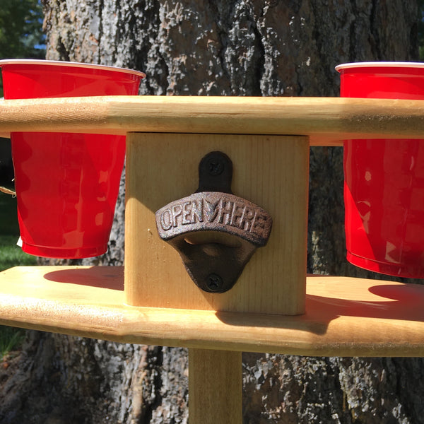 Outdoor Picnic Cup Holder on Stand - Backyard Barbecue Essential