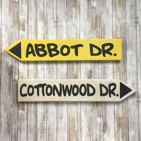 Vintage Sunriver Style Street Signs - Custom Made with Your Street - Engraved Pine Wood