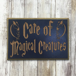 Care of Creatures Sign - MDF Carved Wood