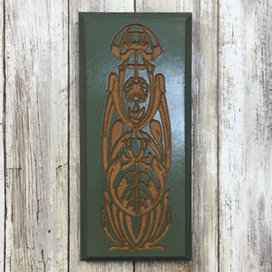 Art Nouveau Motiff Sign Plaque - Painted & Engraved MDF Wood