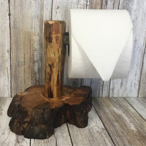 Countertop Toilet Paper Roll Holder - Ponderosa Pine Burl