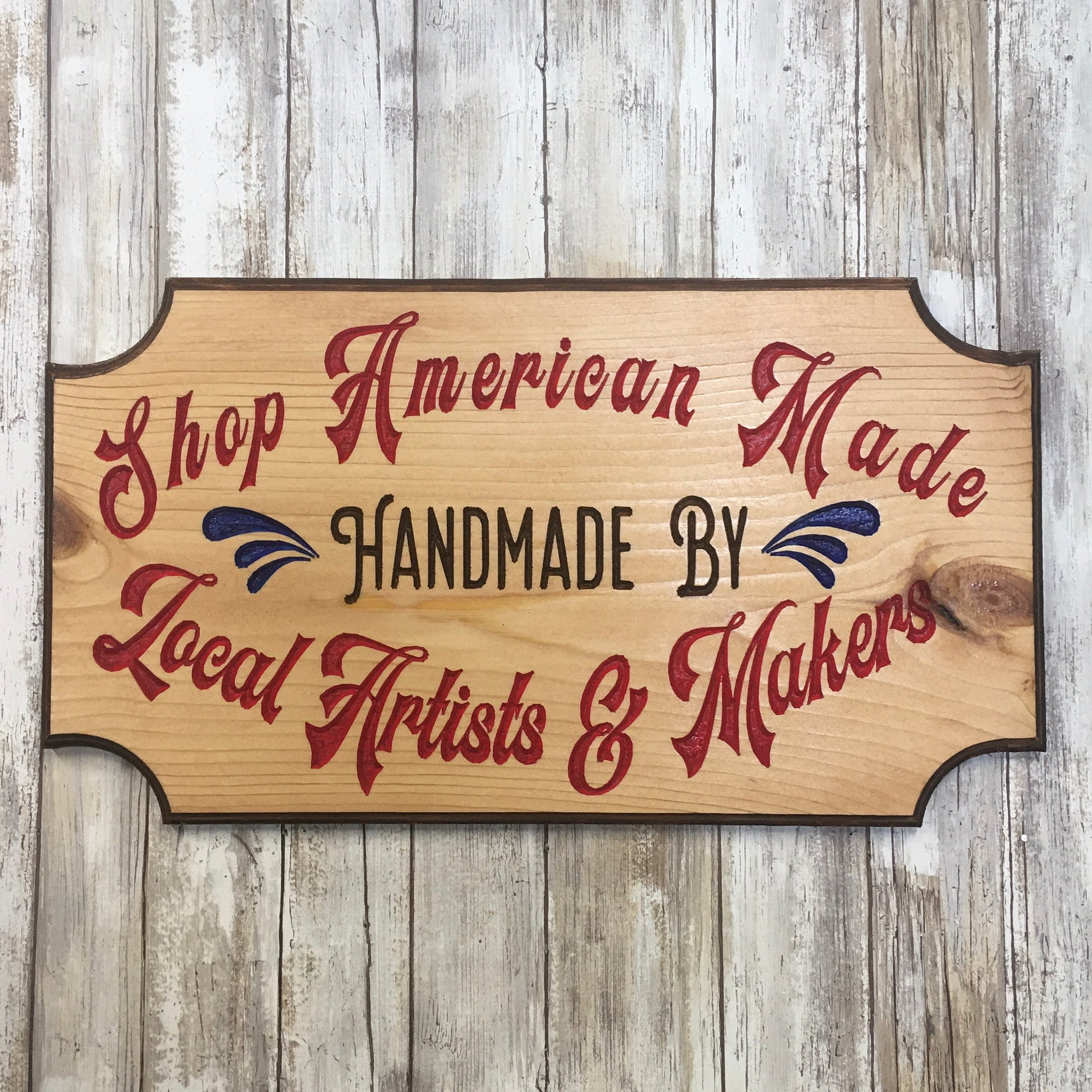 Shop American Made Handmade by Local Artists & Makers Sign