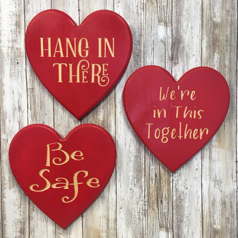 Inspirational Heart Signs - Home Decor - Engraved Pine Wood