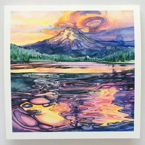 Trillium Reflection - Blank Greeting Card - Created by Christina McKeown