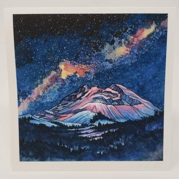 Milky Way Over South Sister - Blank Greeting Card - Created by Christina McKeown