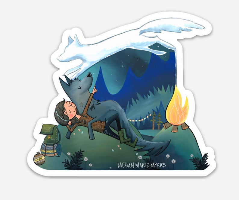 Campfire Dreams Vinyl Sticker - Created by Megan Marie Myers