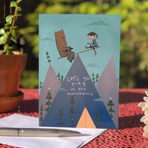 Let's Play in the Mountains - Blank Greeting Card - Created by Megan Marie Myers #12