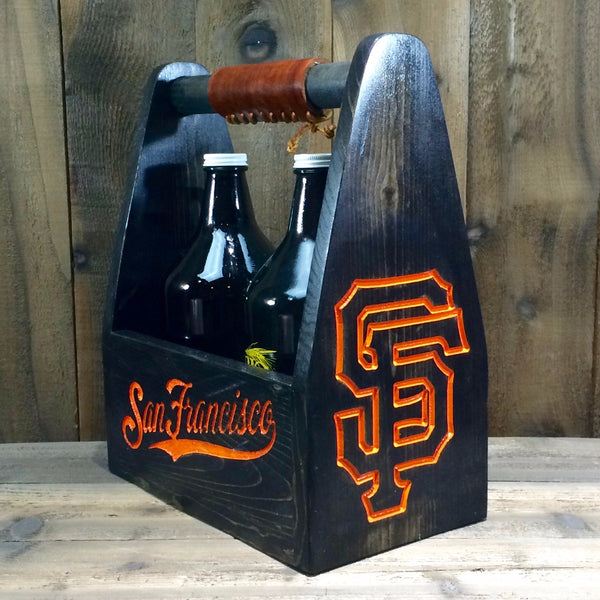 Baseball Team Beer Carrier - As Shown Holds Two 64oz Growler Bottles - Other Sizes Available