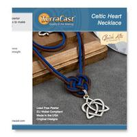Celtic Heart Necklace Kit - Qty 1 Kit - TierraCast