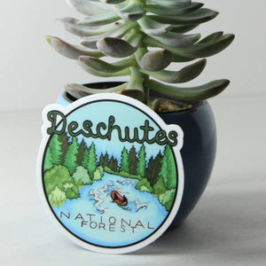 Deschutes National Forest Vinyl Sticker - Created by Michele Michael