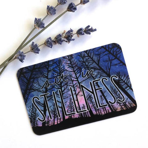 Sit In Stillness Trees Oregon Vinyl Sticker - Created by Michele Michael