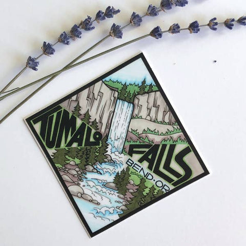 Tumalo Falls Oregon Vinyl Sticker - Created by Michele Michael